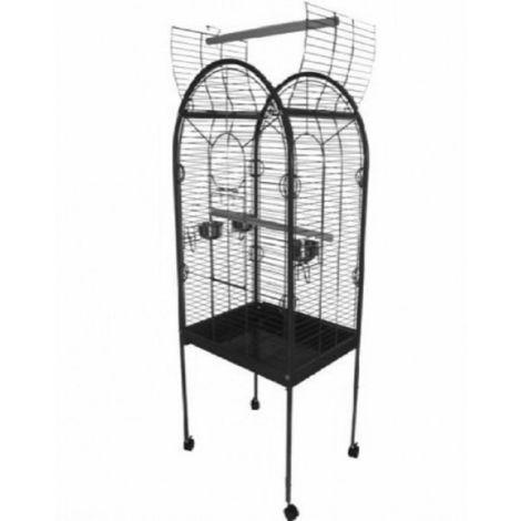 Jaula para pájaros de acero 55 x 55 x 160 cm