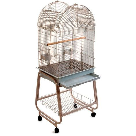 Jaula para pájaros de acero L 56 x B 43 x H 143 cm