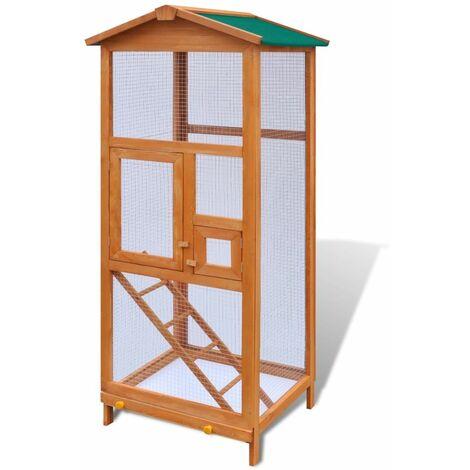 Jaula para pajaros madera 65x63x165 cm