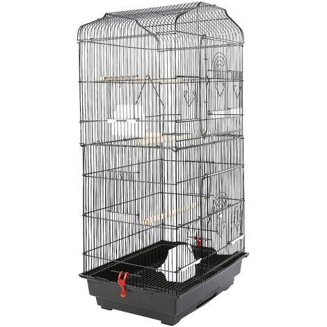 Jaula para Pájaros para canarios, jaula para loros, jaula para pájaros 46x36x93cm alambre de hierro Jaula para Pájaros