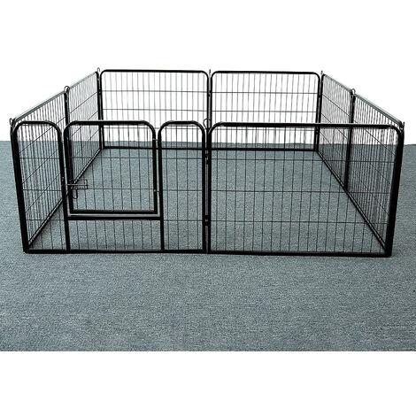 Jaula para perros-caja con rejillas - transportín para perros, caja para perros con puertas, para perros caja de transporte cabina para transportar mascotas