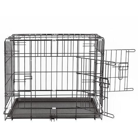 Jaula para perros, puertas exteriores Cage1, plegable, transportable , 61 * 46 * 48cm