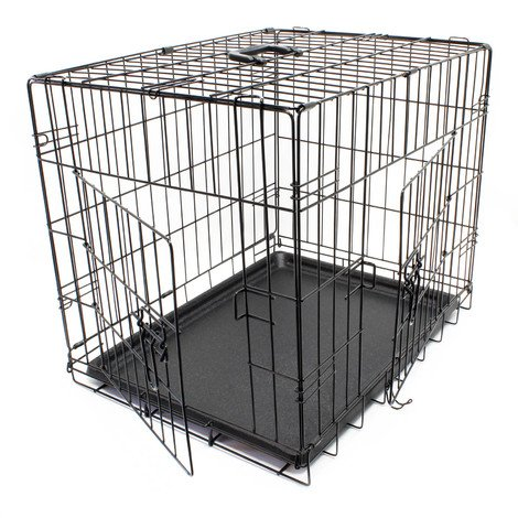 Jaula plegable perros tamaño S Caja transporte animales mascotas coche Alambre