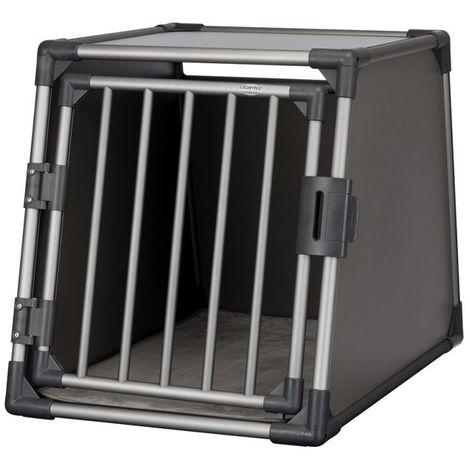 Jaula porta perros de aluminio para automóviles B 61 x T 86 x H 65 cm