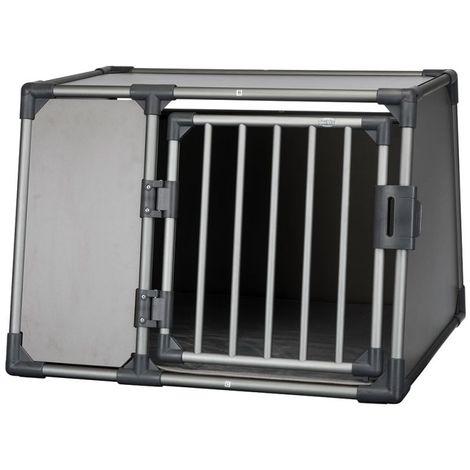 Jaula porta perros de aluminio para automóviles L: B 92 x T 78 x H 64 cm