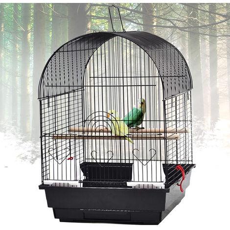 Jaula Portátil Para Pájaros / Pajarera Para Loros, Pájaros en Metal y Madera, 40 x 35 x 51 cm