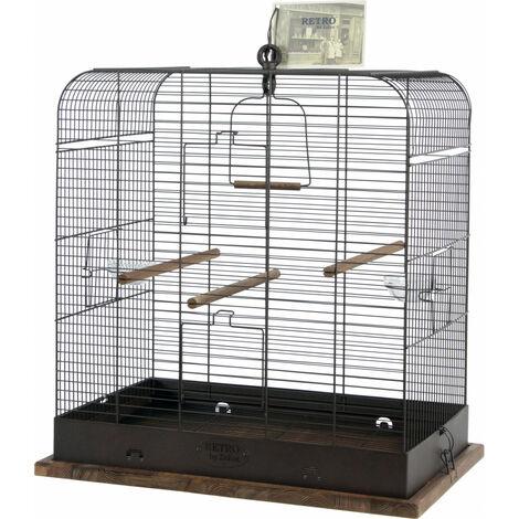 Jaula RETRO MADELEINE. 37.5 x 57 x altura 62 cm. para las aves.