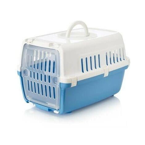 Jaulas de transporte de plástico para perros 48 x 31.5 x 30 cm, BLUE
