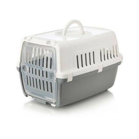 Jaulas de transporte de plástico para perros 48 x 31.5 x 30 cm, GREY