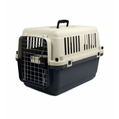 Jaulas de transporte de plástico para perros L : 80 x 56.5 x 59cm