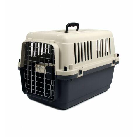 Jaulas de transporte de plástico para perros M : 67.5 x 50 x 47.5cm