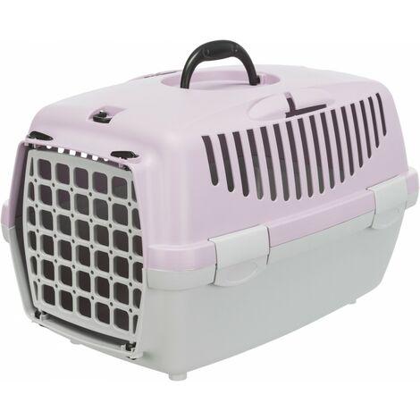 Jaulas de transporte de plástico para perros XS-S 37 × 34 × 55 cm, PINK