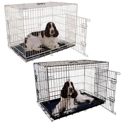 Jaulas metálicas plegables para perros IBÁÑEZ excelente calidad disponible en varias medidas