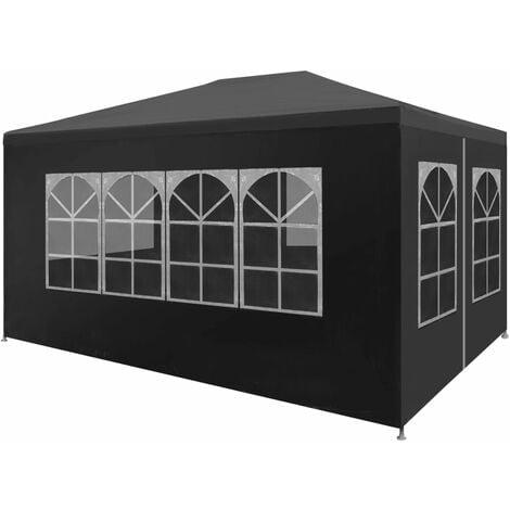 Jaylee 3m x 4m Steel Party Tent by Dakota Fields - Anthracite