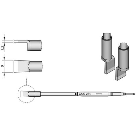 f/ür L/ötkartuschen Serie C105 und C210 JBC Dispenser DC-A