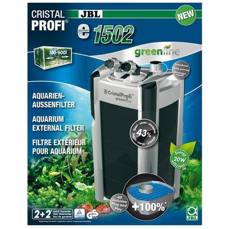 JBL CristalProfi e1502 greenline Außenfilter 200-700 Liter Aquarien 1400 l/h