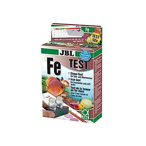 JBL Fe Fer Test-Set, Test rapide pour déterminer la teneur en fer dans les bassins et les aquariums d'eau douce et d'eau de mer, Test Fer Fe