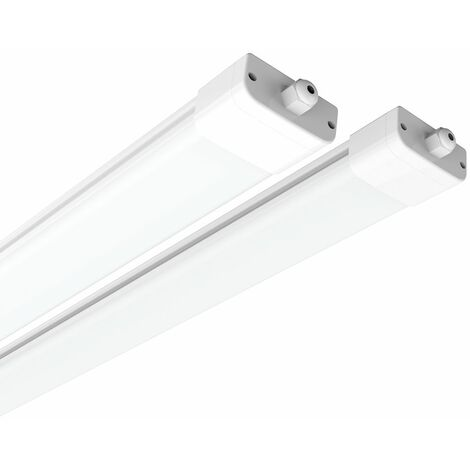 J&C 120CM Néon Tube LED 36W Tube LED IP65 Blanc Neutre 4000K