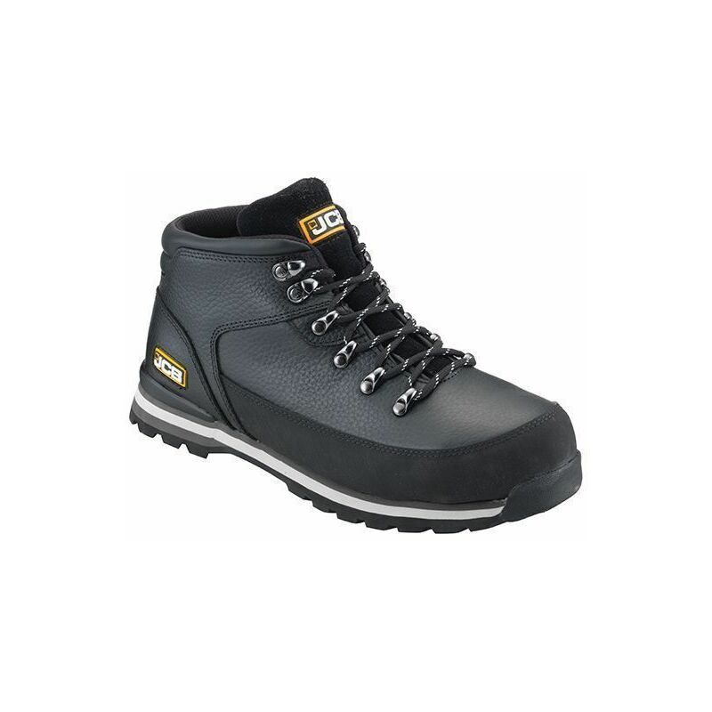 Image of 3CX Safety Hiker Waterproof Work Boots Black Wider Fitting - Size 8 - JCB