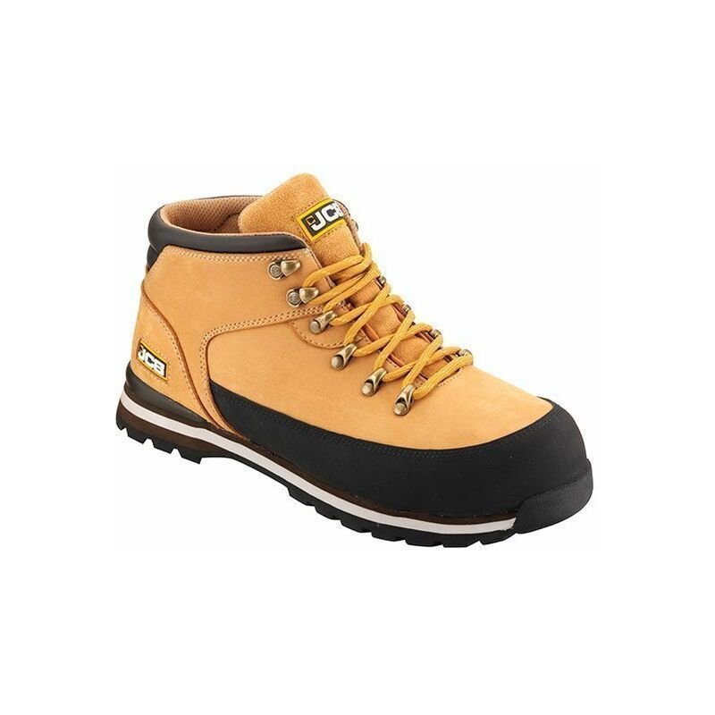 Image of 3CX Safety Hiker Waterproof Work Boots Tan Honey Wider Fitting - Size 10 - JCB