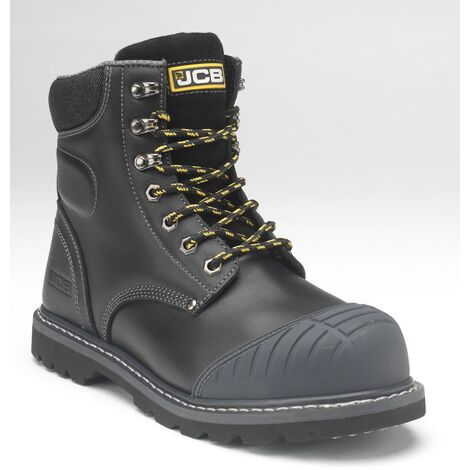 JCB 5CX+ Safety Work Boots Black (Sizes 6-13) Men's Steel Toe