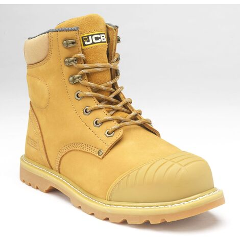 JCB 5CX+ Safety Work Boots Honey (Sizes 6-13) Men's Steel Toe