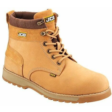 f1637dd3a37 JCB 5CX Safety Work Boots Tan Honey (Sizes 6-12) Steel Toecap & Midsole
