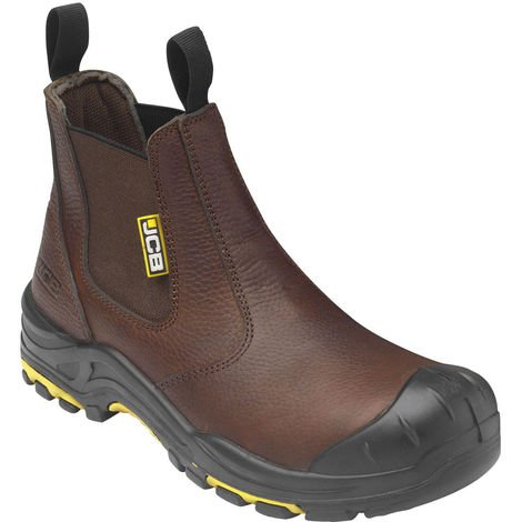 JCB DEALER BROWN BOOT S3 HRO SRC