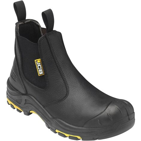 JCB Dealer Safety Work Boots Black (Sizes 6-13) Men's Steel Toe Cap