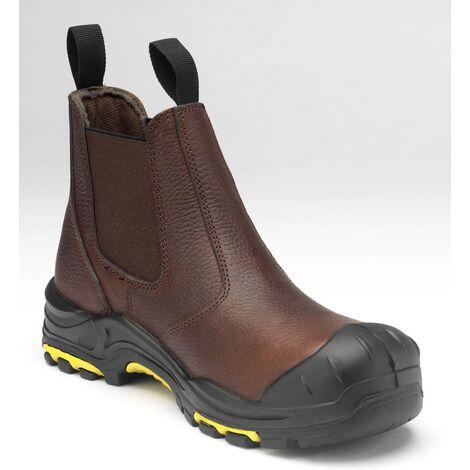 ee21ec125b4974 JCB Dealer Safety Work Boots Brown (Sizes 6-13) Men's Steel Toe Cap