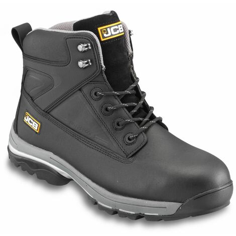 JCB FAST-TRACK Safety Waterproof Work Boots Black - Size 8