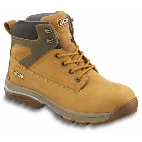 JCB FAST-TRACK Safety Waterproof Work Boots Tan Honey (Sizes 6-13)