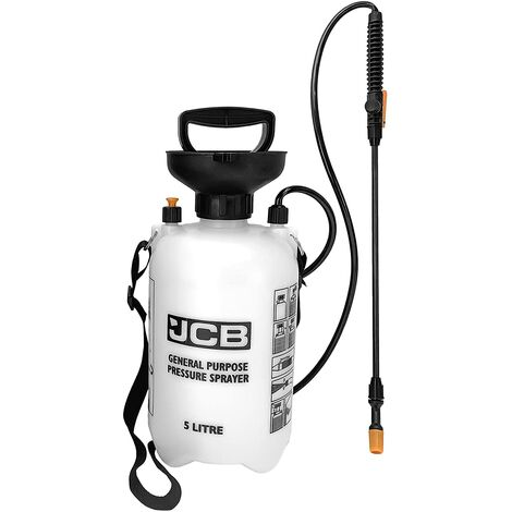 "main image of ""JCB Garden Tools - Garden Sprayer - General Use Sprayer - 5 Litre Pressure Sprayer - Use to Spray Mould Remover, Lichen Remover, Algae Remover and Fertiliser"""