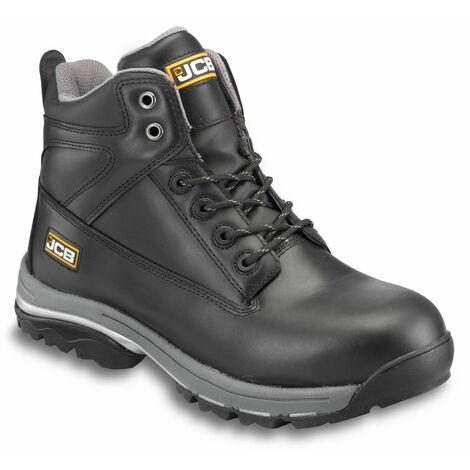 JCB WORKMAX Safety Work Boots Black (Sizes 6-13) Steel Toecap & Midsole