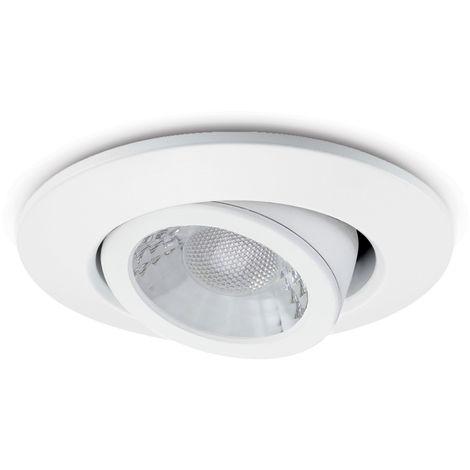 JCC V50 Colour Selectable Tilt Fire-rated LED Downlight 7W 650lm IP20 White