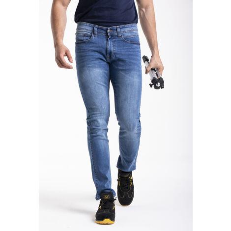Jeans coupe droite ajustée stretch super stone washed WORK1 RICA LEWIS - plusieurs modèles disponibles