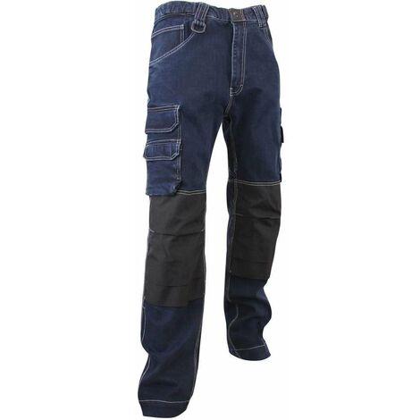 Jeans de travail avec ceinture X-TRA et poches genouillères Cordura - Gamme Jeans - DOCK - BLEU DENIM - 1189 - LMA Lebeurre