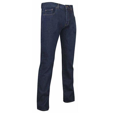 Jeans de travail braguette zippée avec poches Western et effet délavé - Gamme Jeans - FLORIDE - DENIM - 1295 - LMA Lebeurre