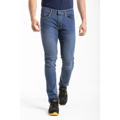 Jeans de travail coupe droite ajustée stone brossé stretch - 40
