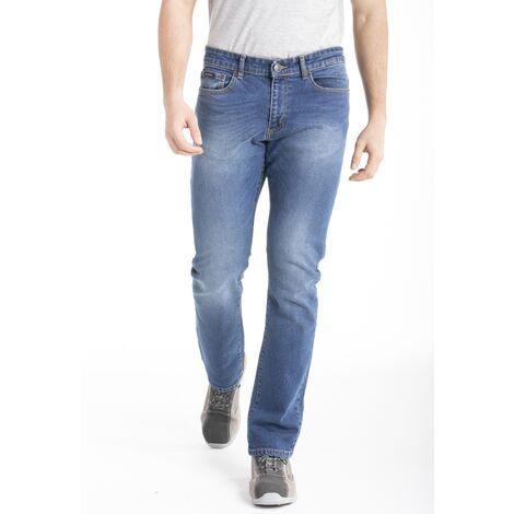 Jeans de travail coupe droite denim extra lourd brossé stretch - 48