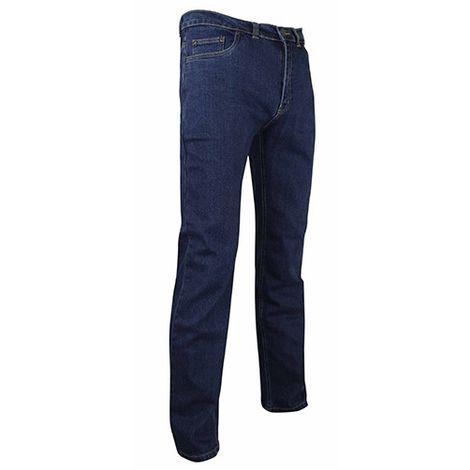 Jeans de travail extensible à poches Western et effet délavé - Gamme Jeans - MEMPHIS - BLEU DENIM - 127236 - LMA Lebeurre