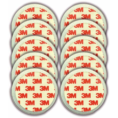 Jeising 10er Set Magnethalter fr Rauchmelder - CO Melder selbstklebend, (Magnetbefestigung Wand- und Deckenmontage) mit Haltekante fr Wandmontage geeignet, 3M Premium Magnetpad