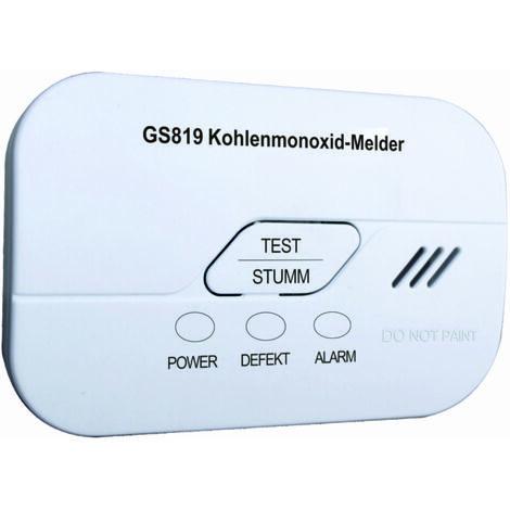 """Jeising GS819 CO Melder mit 10 Jahre Elektrochemischer Sensor und Gratis Wandmagnetbefestigungs Pad, CO-Gas-Melder gem""""á EN50291-1:2010 inklusiv austauschbarer 5 Jahres Batterie"""