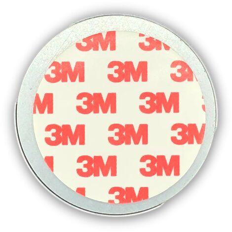Jeising Magnethalter fr Rauchmelder - CO Melder selbstklebend, (Magnetbefestigung Wand- und Deckenmontage) mit Haltekante fr Wandmontage geeignet, 3M Premium Magnetpad