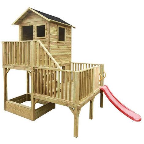 """main image of """"JEJE - casetta in legno per bambini con scivolo"""""""