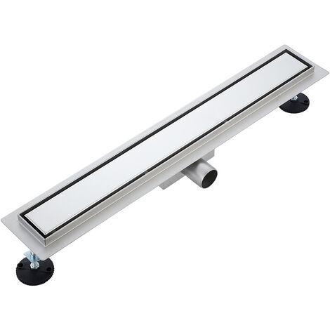 JEOBEST Desagüe de suelo invisible para ducha rectangular de acero inoxidable 304, 60 cm