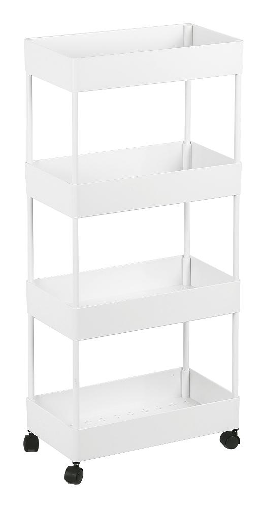 JEOBEST®40 * 22 * 90cm blanc multi-fonction amovible chariot/chariot de stockage/rack