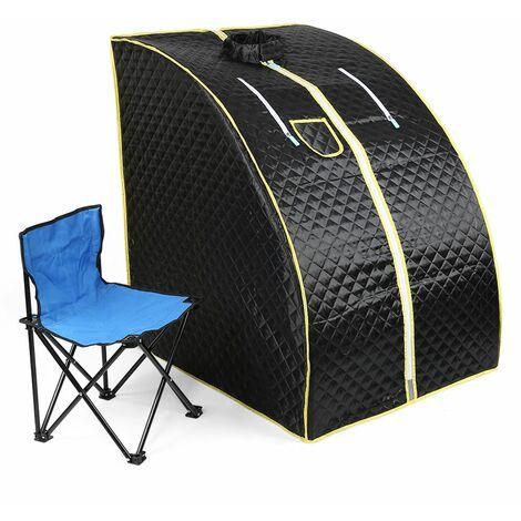 JEOBEST®Cabine de Sauna Vapeur Sauna Maison Portable Mobile Hammam et Sauna 1000W