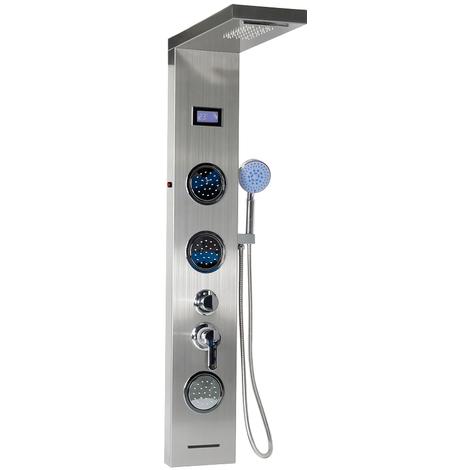 JEOBEST®Colonne de Douche LED en Acier Inoxydable 304 Panneau de Douche avec Douche à Main Multi-fonctionnel l'eau de Sortir
