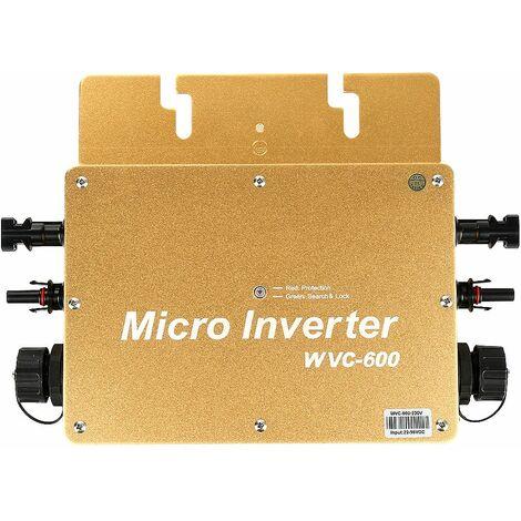 JEOBEST®Convertisseur Pur Sinus 600W Convertisseur de tension quasi sinus Onduleur solaire à onde sinusoïdale pure d'inverseur solaire de lien de grille de 600W-dore - Dore